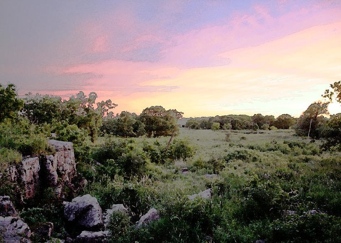 Greeting Card featuring the photograph Pipestone Monument Sunset by Kevin Thomas