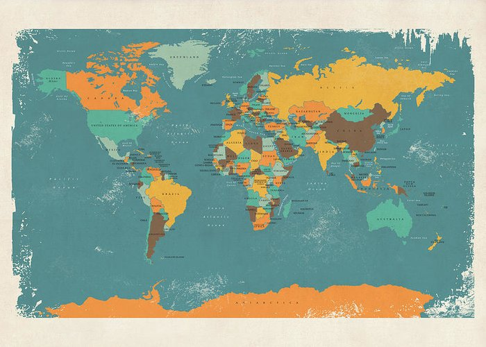 Cartography Greeting Cards