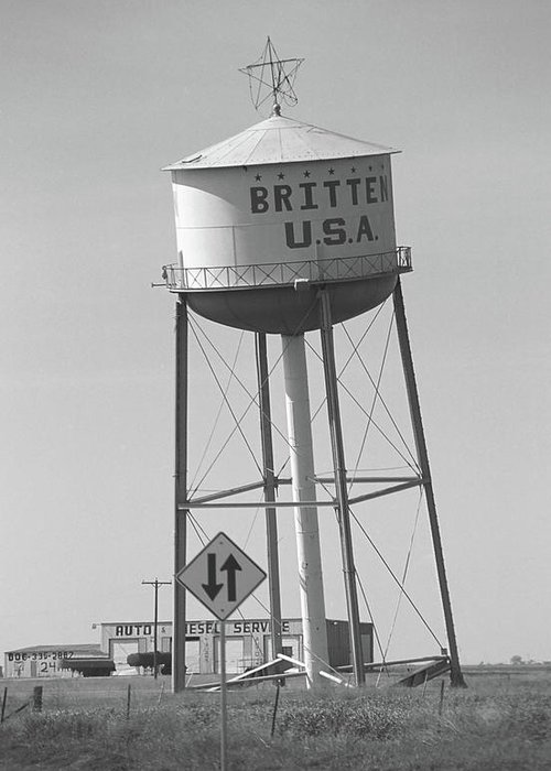 66 Greeting Card featuring the photograph Route 66 - Leaning Water Tower by Frank Romeo