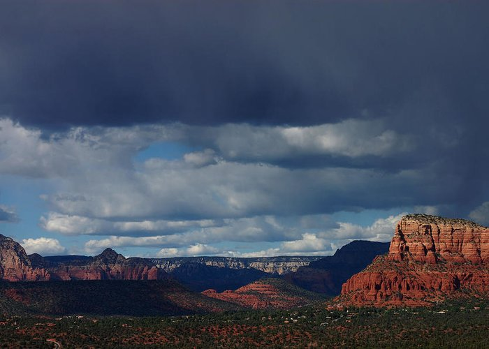 Sedona Greeting Card featuring the photograph Sedona Arizona by Stormys Unique Creations