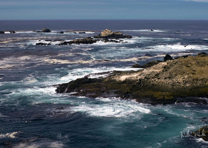 Ocean Greeting Card featuring the photograph Something To Paint In Carmel by William Havle