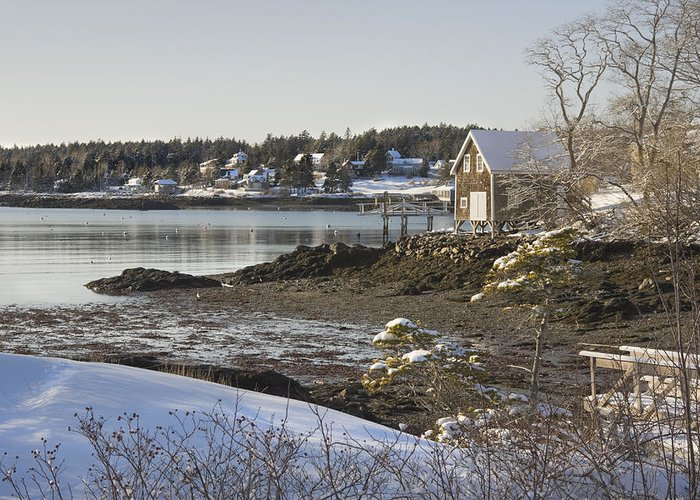 Maine Greeting Card featuring the photograph South Bristol On The Coast Of Maine by Keith Webber Jr