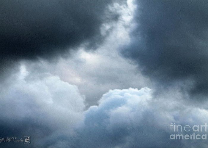 Storm Clouds Greeting Card featuring the photograph Storm Clouds by J McCombie