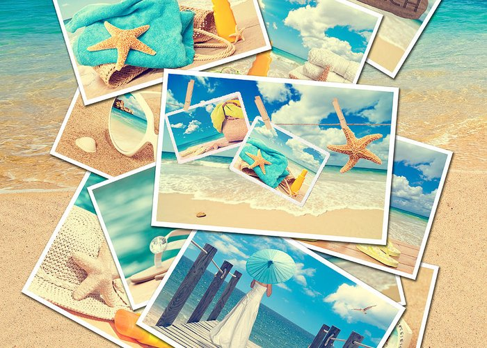 Sand Greeting Card featuring the photograph Summer Postcards by Amanda Elwell