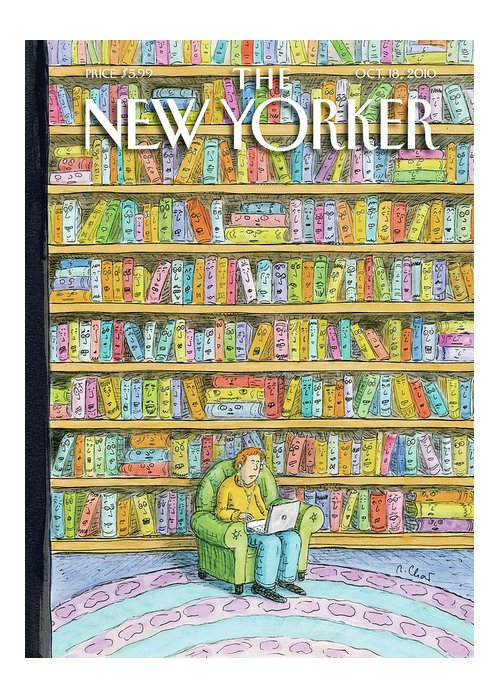 Computer Greeting Card featuring the painting New Yorker October 18th, 2010 by Roz Chast
