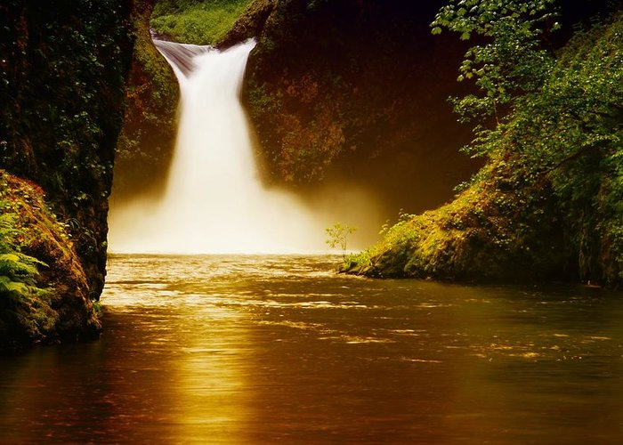 Upper Punch Bowl Falls Greeting Cards