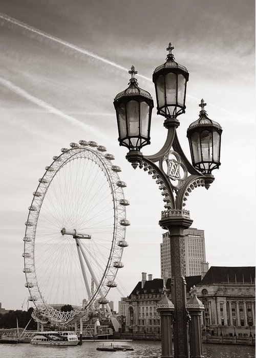 London Greeting Card featuring the photograph Vintage Lamp by Songquan Deng