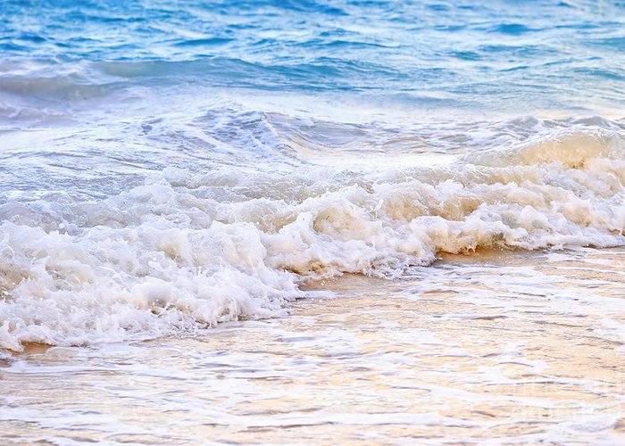 Caribbean Greeting Card featuring the photograph Waves Breaking On Tropical Shore by Elena Elisseeva