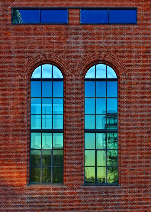Window Greeting Card featuring the photograph Windows by Kent Mathiesen