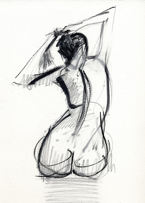 Nude Drawing Greeting Cards