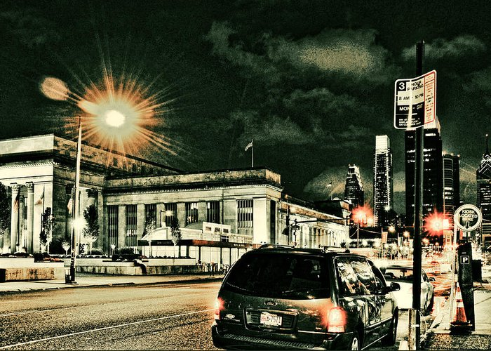 Architecture Greeting Card featuring the photograph 30th Street Station by Robert Culver