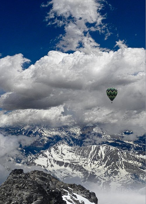 Balloon Greeting Card featuring the photograph 3309 by Peter Holme III