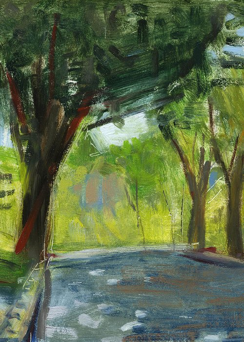 Trees Greeting Card featuring the painting Rcnpaintings.com by Chris N Rohrbach