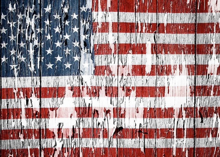 Flag Greeting Card featuring the photograph American Flag 49 by Les Cunliffe