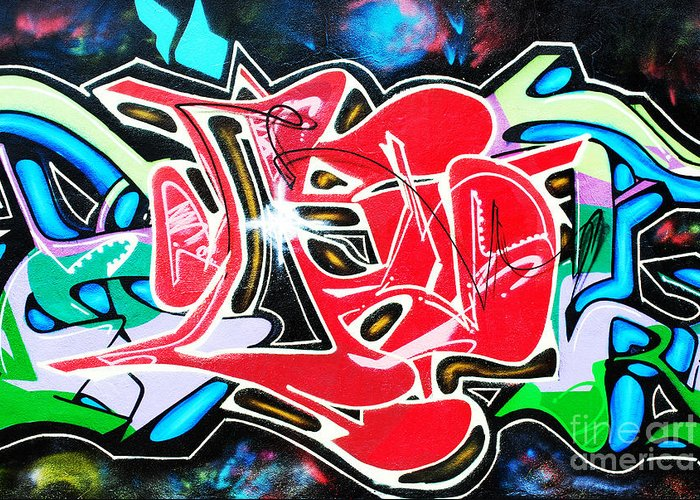 Graffiti Greeting Card featuring the photograph Graffiti by Luis Alvarenga