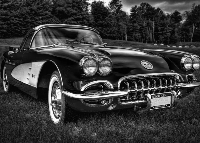 60 Greeting Card featuring the photograph 1960 Chevy Corvette by David Patterson