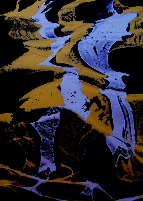 Original Greeting Card featuring the painting Abstract 37 by J D Owen