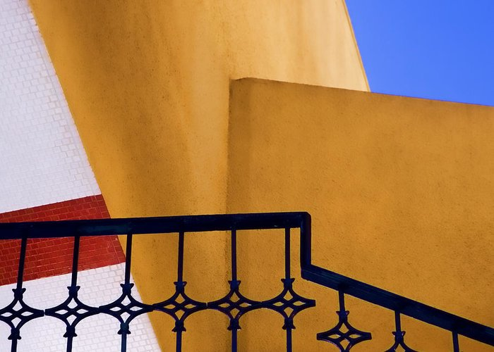 Architecture Greeting Card featuring the photograph Architectural Detail by Carol Leigh