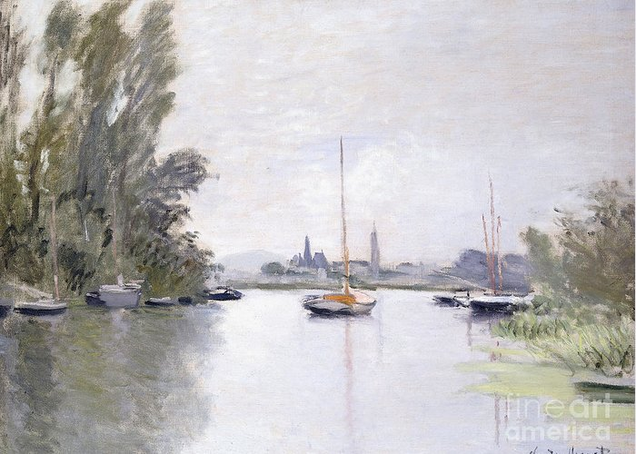 Monet Greeting Card featuring the painting Argenteuil by Claude Monet