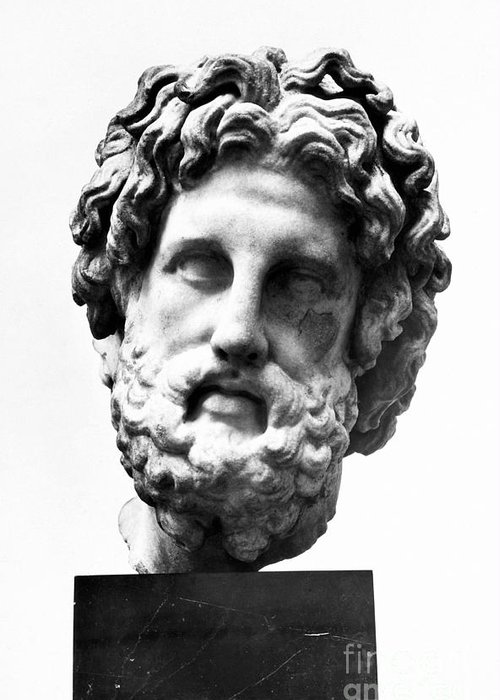 300 B.c Greeting Card featuring the photograph Asklepios by Granger