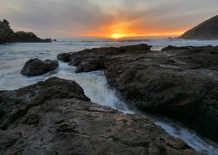 Big Sur Greeting Card featuring the photograph Big Sur Sunset by Stephen Vecchiotti