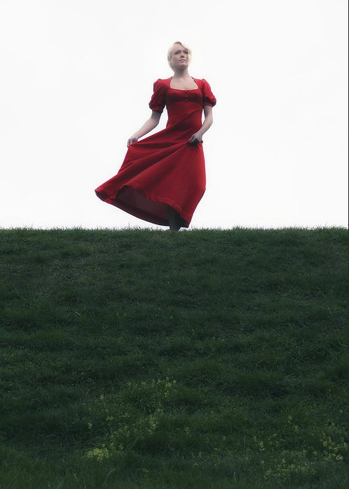 Girl Greeting Card featuring the photograph Dancing by Joana Kruse