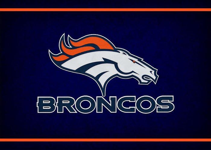 Broncos Greeting Card featuring the photograph Denver Broncos by Joe Hamilton