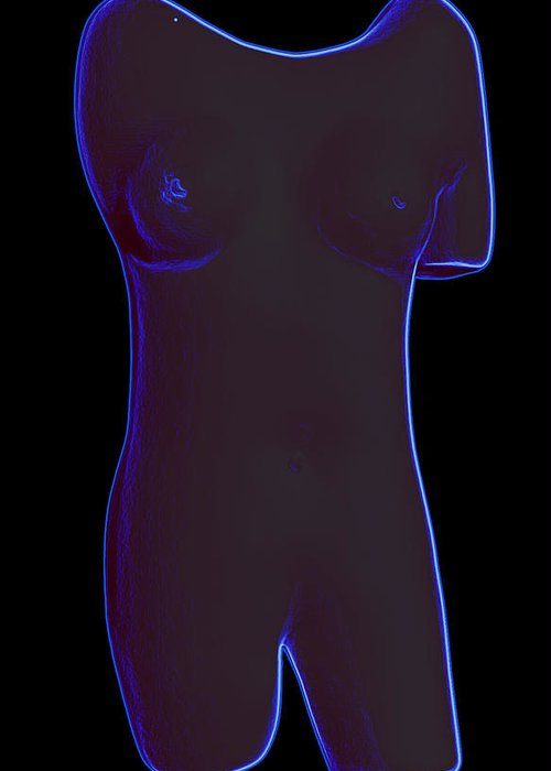 Sculpture Greeting Card featuring the digital art EVA by Kenneth Clarke