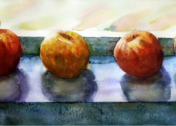 Still Life Greeting Card featuring the painting 4 Friends by Marisa Gabetta