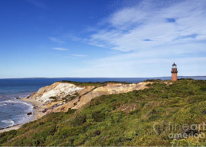 Aquinnah Greeting Card featuring the photograph Gay Head Lighthouse by John Greim