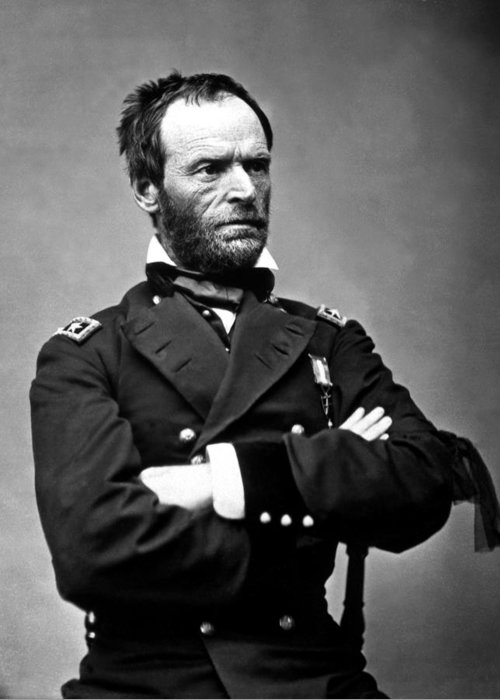 General Sherman Greeting Card featuring the photograph General William Tecumseh Sherman by War Is Hell Store