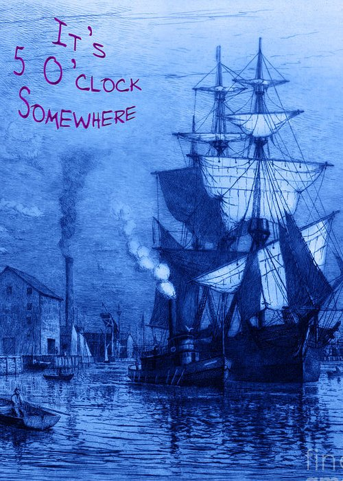 It's 5 O'clock Somewhere Greeting Card featuring the photograph It's 5 O'clock Somewhere by John Stephens