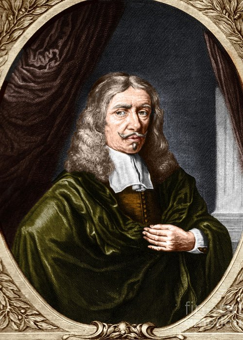 History Greeting Card featuring the photograph Johannes Hevelius, Polish Astronomer by Science Source