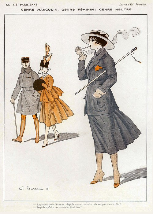 1910�s Greeting Card featuring the drawing La Vie Parisienne 1916 1910s France Cc by The Advertising Archives