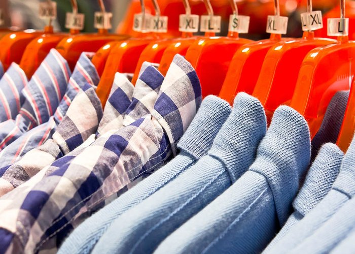 Apparel Greeting Card featuring the photograph Men's Shirts by Tom Gowanlock