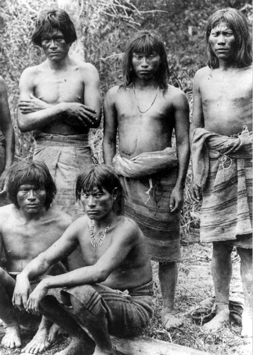 20th Century Greeting Card featuring the photograph Native Brazilians by Granger