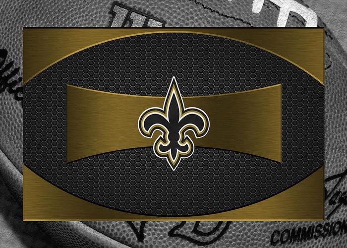 Saints Greeting Card featuring the photograph New Orleans Saints by Joe Hamilton