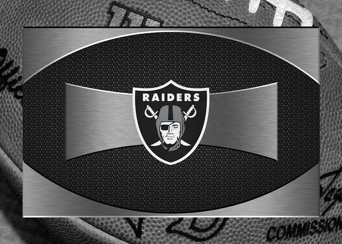 Raiders Greeting Card featuring the photograph Oakland Raiders by Joe Hamilton