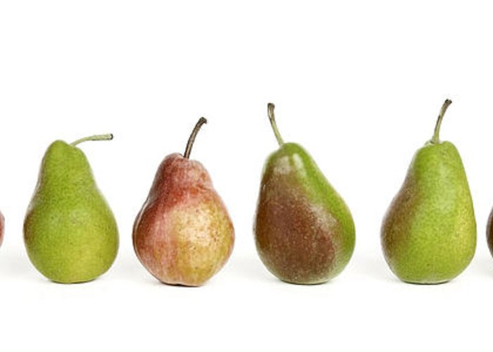 Food And Drink Greeting Card featuring the photograph Pears by Bernard Jaubert