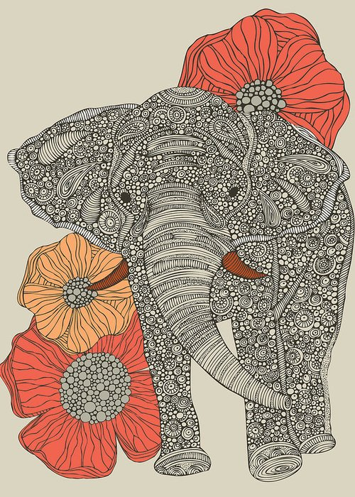 African Flower Greeting Cards