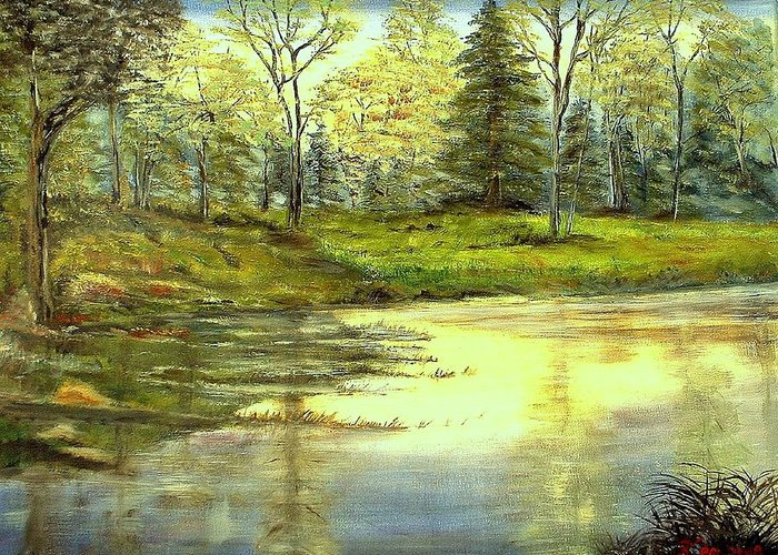 Landscape Greeting Card featuring the painting Spring Time by Kenneth LePoidevin