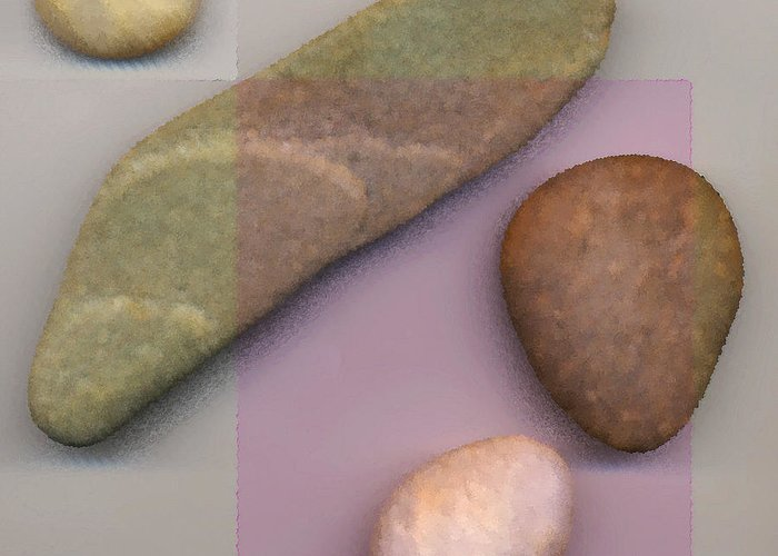 4 Stones Greeting Card featuring the digital art 4 Stones by David Klaboe