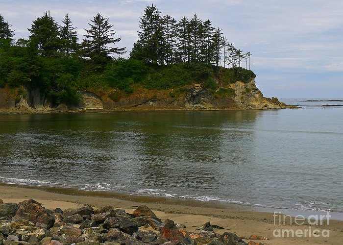 Sunset Bay State Park Greeting Card featuring the photograph Sunset Bay State Park by Gail Peters