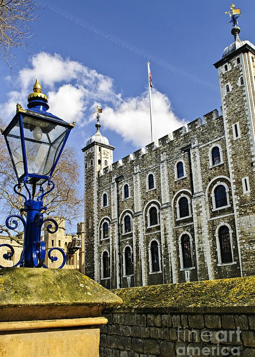 Tower Greeting Card featuring the photograph Tower Of London by Elena Elisseeva