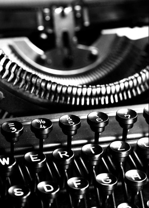 Schreibmaschinentasten Greeting Card featuring the photograph Typewriter by Falko Follert