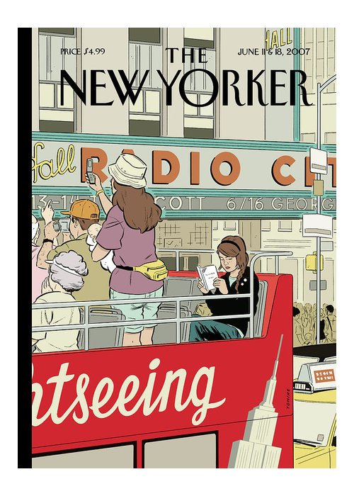 Big City Thrills Greeting Card featuring the painting Big City Thrills by Adrian Tomine