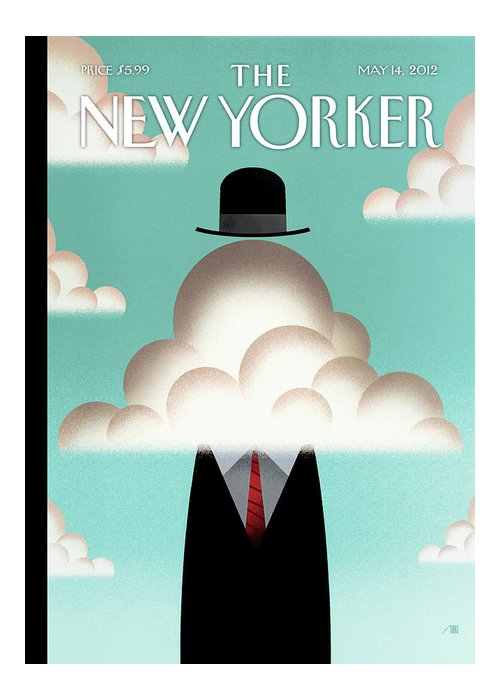 Clouds Greeting Card featuring the painting The Cloud by Bob Staake