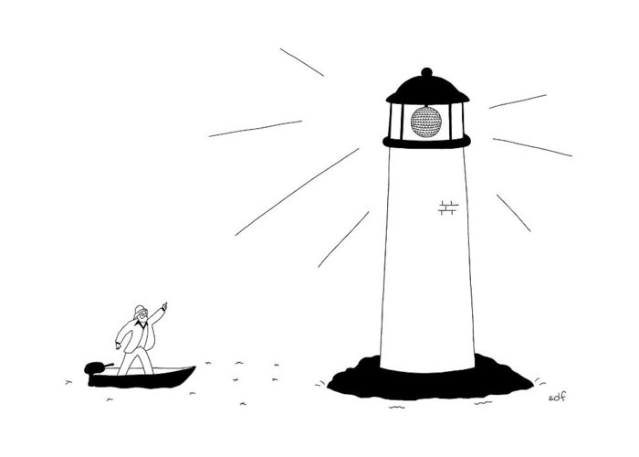 Lighthouse Drawings Greeting Cards