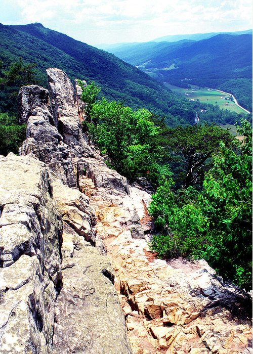 West Virginia Greeting Card featuring the photograph View From Atop Seneca Rocks by Thomas R Fletcher