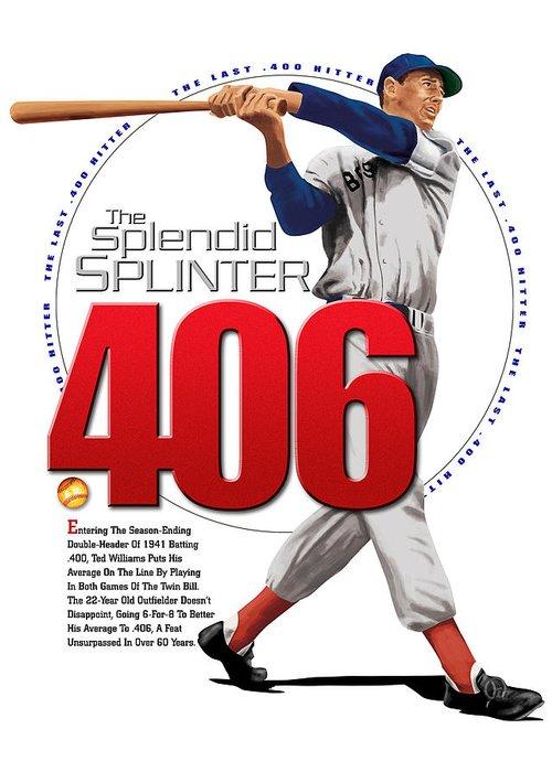 The Spledid Splinter Greeting Card featuring the digital art 406 by Ron Regalado